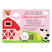 farm animals birthday invitation zazzle