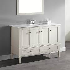 WYNDENHALL Windham Soft White Inch Door Drawer Bath Vanity - White 48 inch bath vanity
