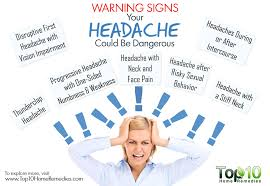 Headache Before Bed 10 Warning Signs Your Headache Could Be Dangerous Top 10 Home