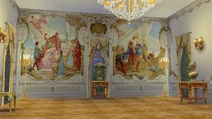 villa widmann rococo wall mural set by the regal sim http