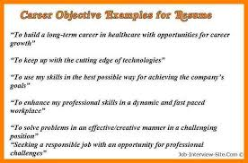 career objectivesexamples of career objective example of cv