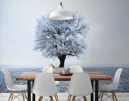 Dining Room Wall Murals 5 Winter Wall Murals That Will Leave Your Guests On Christmas