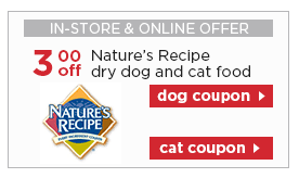 printable nature s recipe dog food coupons printable pet food coupons nature s recipe canyon creek woof