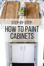 how to paint cabinets with a professional finish tutorials