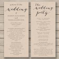 wedding bulletins wedding program template printable by hopestreetprintables