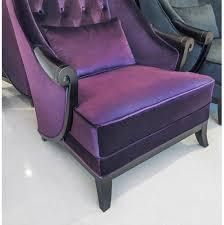 Velvet Wingback Chair High Back Wing Chair Duchess Purple