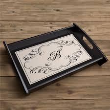 monogrammed serving trays monogrammed serving tray keepsake tray with custom initial