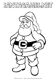 christmas coloring pages u003e santa claus