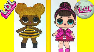 lol surprise doll coloring page queen bee u0026 cosmic queen
