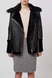 biker coat shearling collar biker jacket by boutique leather biker jackets