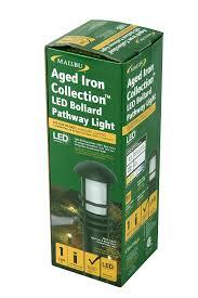 Malibu Solar Fence Lights by Malibu Aged Iron Collection Led Bollard Pathway Light Led Low