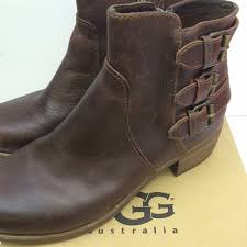 ugg volta sale 55 ugg shoes ugg volta brown leather boots from kate s