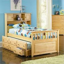 atlantic furniture captain u0027s bookcase bed with 3 drawer trundle in