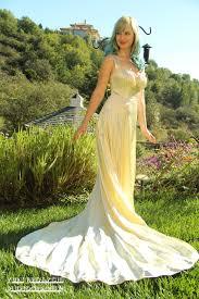 yellow and white wedding dress luxury brides