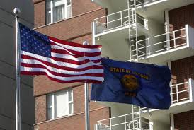 State Flags Of Usa File Flags Of Usa And Oregon Jpg Wikimedia Commons