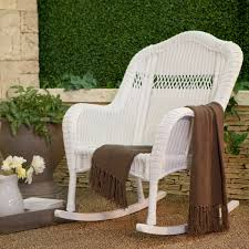Outdoor Patio Rocking Chairs Coral Coast Casco Bay Resin Wicker Rocking Chair With Cushion