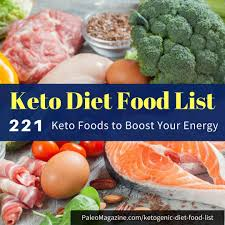 keto diet food list 221 foods to boost energy printable cheat