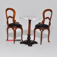 bistro table and 2 chairs quality coffee shop restaurant dollhouse
