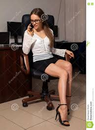 Secretary Desk Chair by Secretary Works In The Office Stock Photo Image 69882292