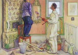 the painter my friends the carpenter and the painter 1909 carl larsson