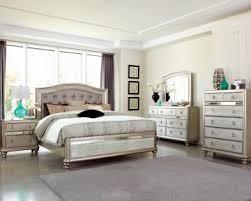 tufted bedroom furniture furniture bling game 4pc button tufted bedroom set in platinum metallic