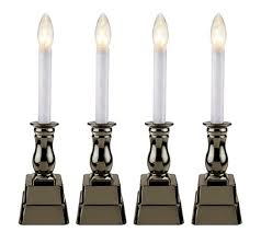 electric candle lights for windows bethlehem lights set of 4 battery op window candles page 1 qvc com