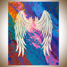 decor painting decor tips angel s wings 2 canvas painting for captivating bedroom