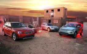 land rover bmw 2013 audi allroad vs 2013 bmw x1 vs 2012 range rover evoque