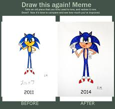 Sonic The Hedgehog Meme - draw this again meme sonic the hedgehog by gallerica on deviantart