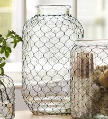 large pickle jar chicken wire glass vase collection accessories