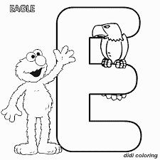 printable preschool alphabets uppercase letter e eagle coloring