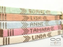beaded name bracelets name bracelet friendship bracelet beadloom bracelet beaded