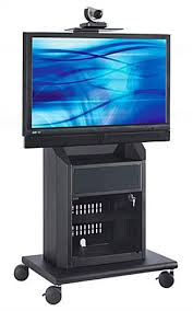 multimedia cart with locking cabinet this audio visual cart has mobile caster wheels the sleek black