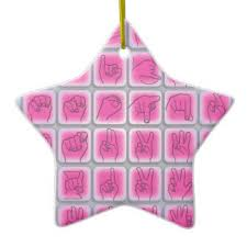 sign language ornaments keepsake ornaments zazzle
