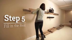 Distressed Wood Wall Panels by Installing Plank Wood Genuine Reclaimed Wood Planks Youtube