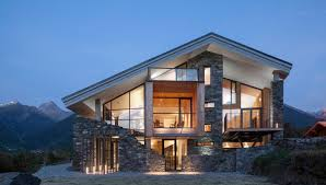 Rustic House Amazing Modern Rustic House With Stone Facade And Skillion Roof