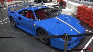 blue f40 blue f40 at the car