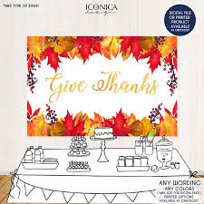 give thanks backdrop thanksgiving banner fall dessert