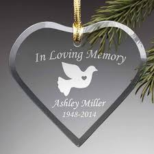 personalized in loving memory glass ornament walmart