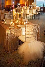 sparkly chagne gold sequin glamorous tablecloth for wedding