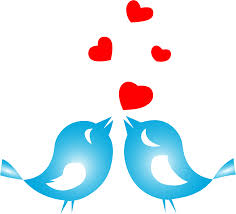 blue clipart love bird pencil and in color blue clipart love bird