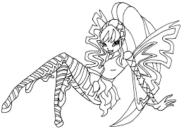 coloring book pages winx club club stella sirenix coloring pages