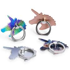 silver unicorn ring holder images Squishy charm ring holder for phone five below jpg