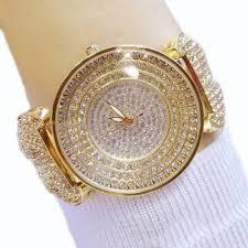 womens diamond bracelet watches images Diamond bracelet gold women luxury austrian crystal big watch jpg