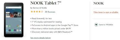 Nook Tablet Barnes And Noble Barnes U0026 Noble Pulls Nook Tablet 7 Inch From Sale Due To Faulty