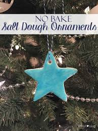 these no bake salt dough ornaments are simple to put together with