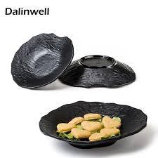 plat cuisiné pas cher pas cher japonais incassable semi mat mélamine unique design noir