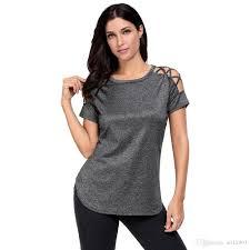 criss cross blouse crisscross detail sleeve t shirt cross hollowout