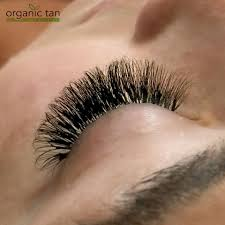 lash extensions organic tan