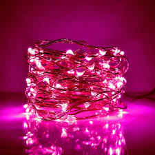 33 foot led lights 100 pink micro led lights on copper wire